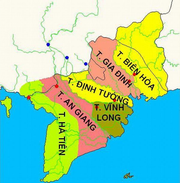 Nam kỳ lục tỉnh gồm những tỉnh nào