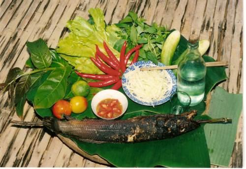Cá lóc nướng trui món ăn dân dã miền tây