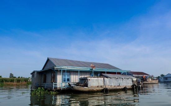 Nhà bè Châu Đốc ở An Giang