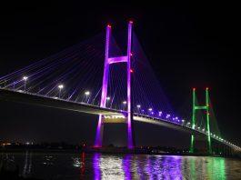Cầu Cao Lãnh về đêm - Ảnh: Báo Đồng Tháp online
