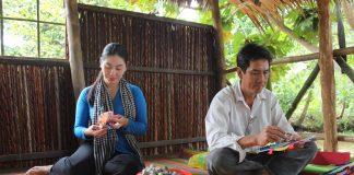 Trải nghiệm làm bánh dân gian ở Cồn Sơn