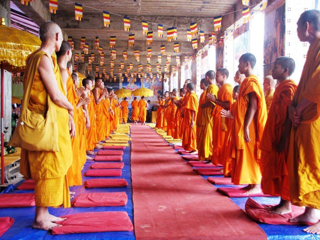 Khung cảnh lễ Dolta của người Khmer Nam Bộ
