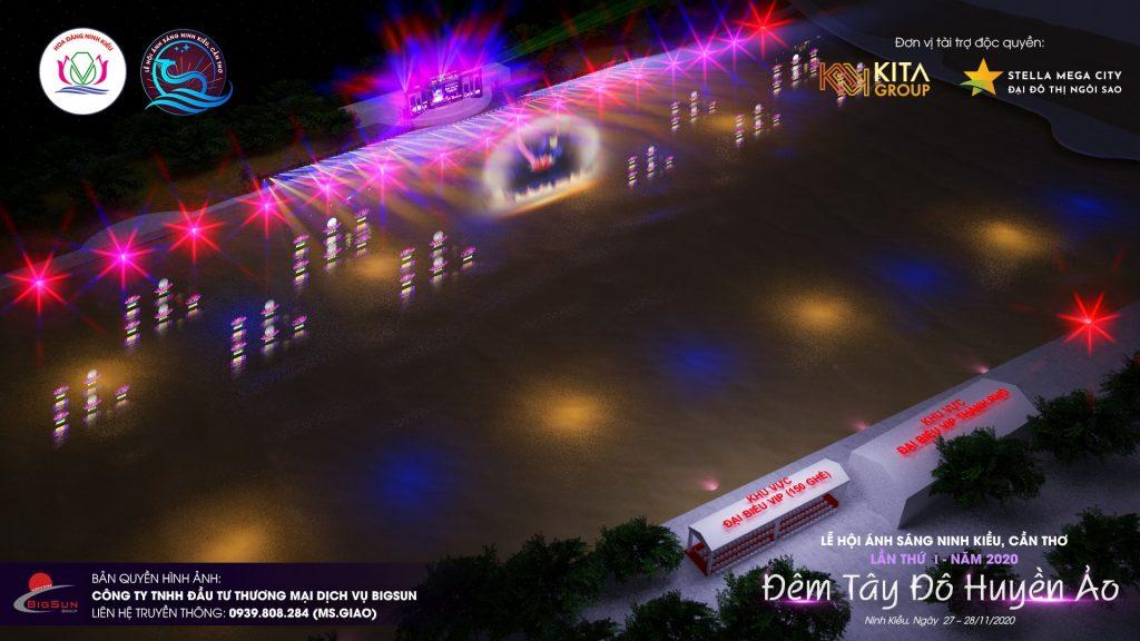 Sân khấu chính Lễ hội ánh sáng Ninh Kiều, Cần Thơ